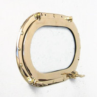 Brass Ship's Porthole Window Oval Glass Oblong