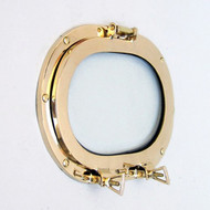 Brass Ship's Porthole Window Oval Glass Wall