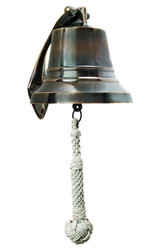 Solid Brass Ship's Bell Bronze Finish Decor