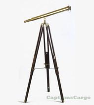 Harbormaster Brass Metal Refractor Telescope Tripod Stand