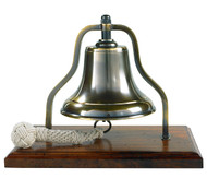 Brass Ship's Purser's Bell Bronze Antiqued Finish