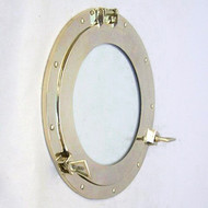 Brass Ship's Cabin Porthole Window  Round Glass