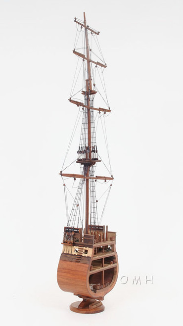 Uss Constitution Cross Section Wooden Tall Ship Model Old