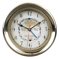 Brass Ships Tide & Time Quartz Clock