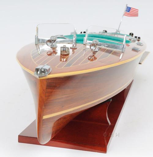 Chris Craft Triple Cockpit Speed Boat Wooden Model