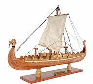 Drakkar Dragon Viking Ship Wooden Model Sailboat