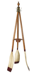 Oxford Varsity Oar Coat Hat Stand Wooden