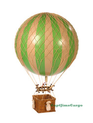 Jules Verne Green Hot Air Balloon Model