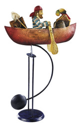 Nautical Rowing Pirate Totter Metal Balance Toy