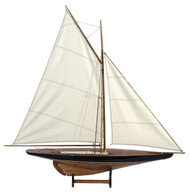 Blue Cup Contender Pond Yacht Sail Model