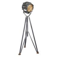 Marconi Spotlight Tripod Signal Floor Lamp Navy