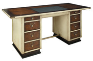 Nautical Furniture Wooden Captains Office Desk Ivory