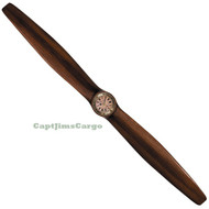 WWI Solid Wood Airplane Propeller Clock  Antiqued
