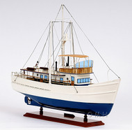 Dickie Walker Trawler Motor Yacht Wooden Model