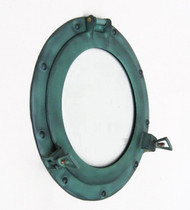Aluminum Green Finish Porthole Glass Window Round