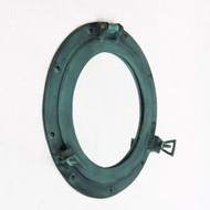 Aluminum Green Finish Cabin Porthole Mirror Round