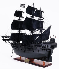 Black Pearl Caribbean Pirate Ship Model Wood