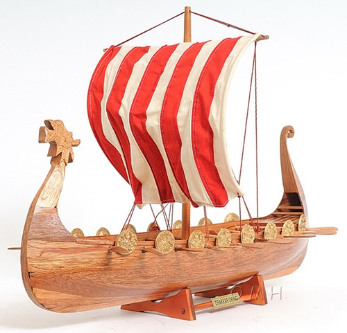 Drakkar Dragon Viking Wood Ship Model Sailboat