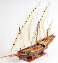 Corsair Barbary Pirate Xebec Galley Wooden Model Mediterranean