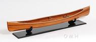 Hugh Wooden Strip Built Canadian Canoe Model
