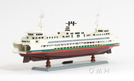 Handcrafted Washington State Car Ferry Boat Model