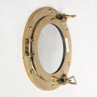 Brass Ships Cabin Porthole Mirror Round Wall Decor
