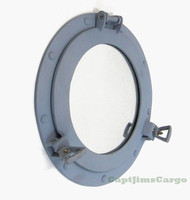 Navy Battleship Gray Ship's Porthole Mirror Nautical