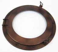 Iron Ships Porthole Window Antiqued Brown Finish