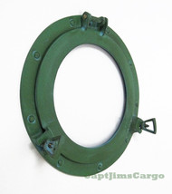 Aluminum Green Finish Ships Porthole Glass Window