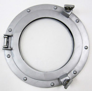 Aluminum Finish Ships Cabin Porthole Glass Window