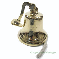 "XL ""Fire"" Solid Cast Brass Ships Bell Wall Decor"