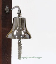Solid Brass Chrome Finish Ship's Bell  Nautical Decor