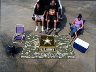 US Army Seal Logo Tailgating Party Gear Rug 5' X 8' Tailgate US Made
