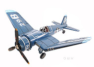 Vought F4U Corsair Metal Model WWII Airplane