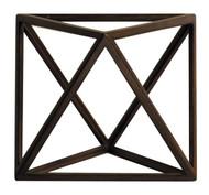 Octahedron 3D Geometric Air Wooden Model Polyhedron