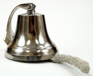 Solid Aluminum Ships Bell Chrome Finish Nautical