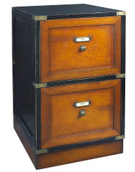 Campaign Files Black Filing Cabinet Nautical Furniture