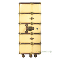 Stateroom Armoire Ivory Steamer Trunk Nautical Furniture