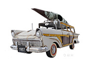 1957 Ford Country Squire Woody Metal Model Kayak