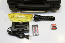 Rechargeable option 365nm NDT inspection flashlight kit