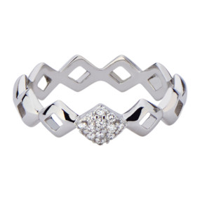 Lucia Pinky Ring with diamonds