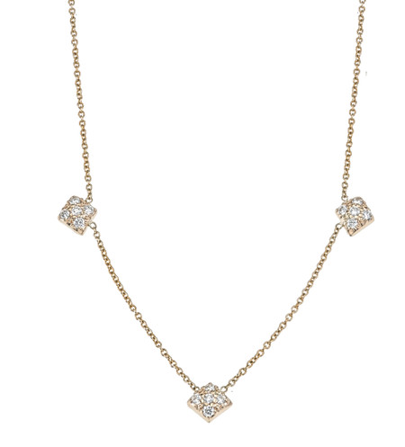 Lucia diamond 3 station necklace
