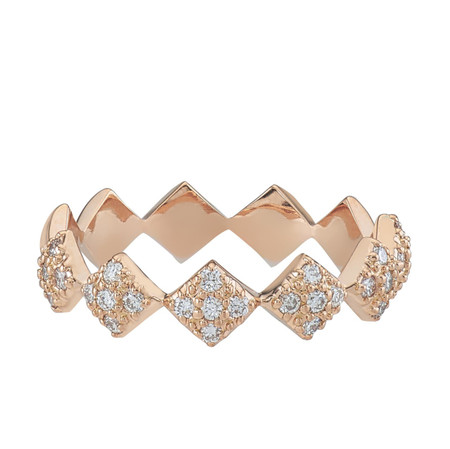 Julia half diamond eternity band