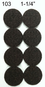 "1 1/4"" Peel N Stick Brown Felt Floor Protectors"
