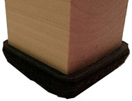 "1"" Brown Formed Felt Square Peel N Sticks"