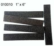 """1"""" x 6"""" Peel N Stick Brown Felt Floor Protectors Strips"""