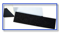 "1""x 6""Flexible Black Vinyl Gripper Strips"