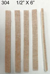 "1/2"" x 6"" Strips Peel N Stick Tan Flor Protectors -"