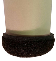 "1-1/2"" Brown Formed Felt Round Peel N Sticks"