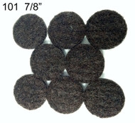 "7/8""  Peel N Stick Brown Felt Floor Protectors"
